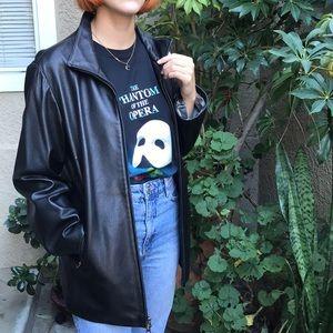Vintage black Victoria by Piel leather jacket
